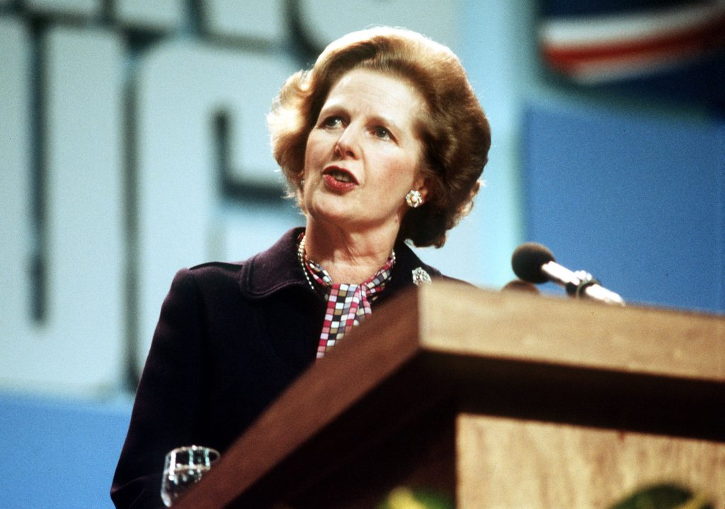 File photo dated 12/10/1984 of Prime Minister Margaret Thatcher. The miners' strike started in Yorkshire in early March 1984 and within days half the country's mineworkers had walked out in protest at pit closures. Most of the UK's 190,000 miners were soon embroiled in a daily routine of picketing outside collieries, most of which had ground to a halt. During the strike, an estimated 20,000 people were injured or admitted to hospital, including NUM leader Arthur Scargill, while around 200 served time in prison or custody. Two men were killed on picket lines. The strike began after an announcement by National Coal Board chairman Ian MacGregor that four million tonnes of capacity, leading to a loss of 20,000 jobs, was to be taken out of the industry. The miners returned to work after a year of confrontation.